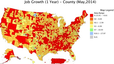 Another View Of Employment Data Contributing Or Worsening The - Us map job growth