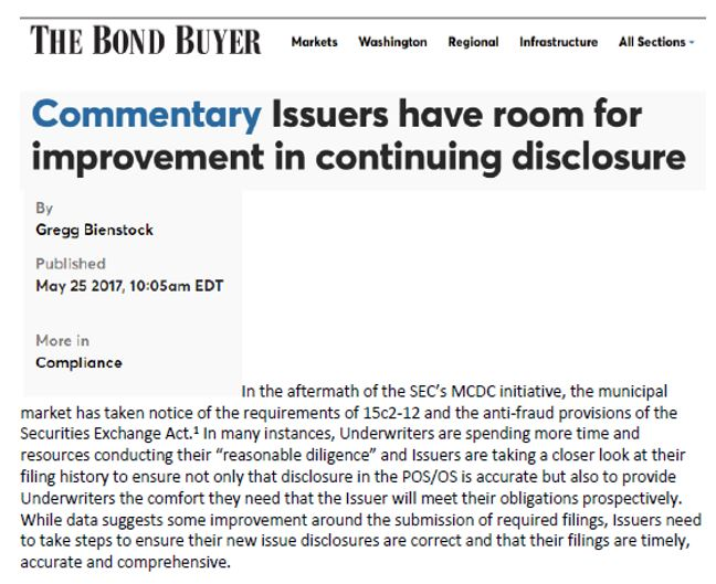 DIVER for Municipal Issuers - MCDC Issuer Settlements
